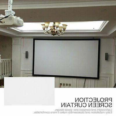 40 Inch Projection Screen Curtain Non-Woven Fabric White Sof