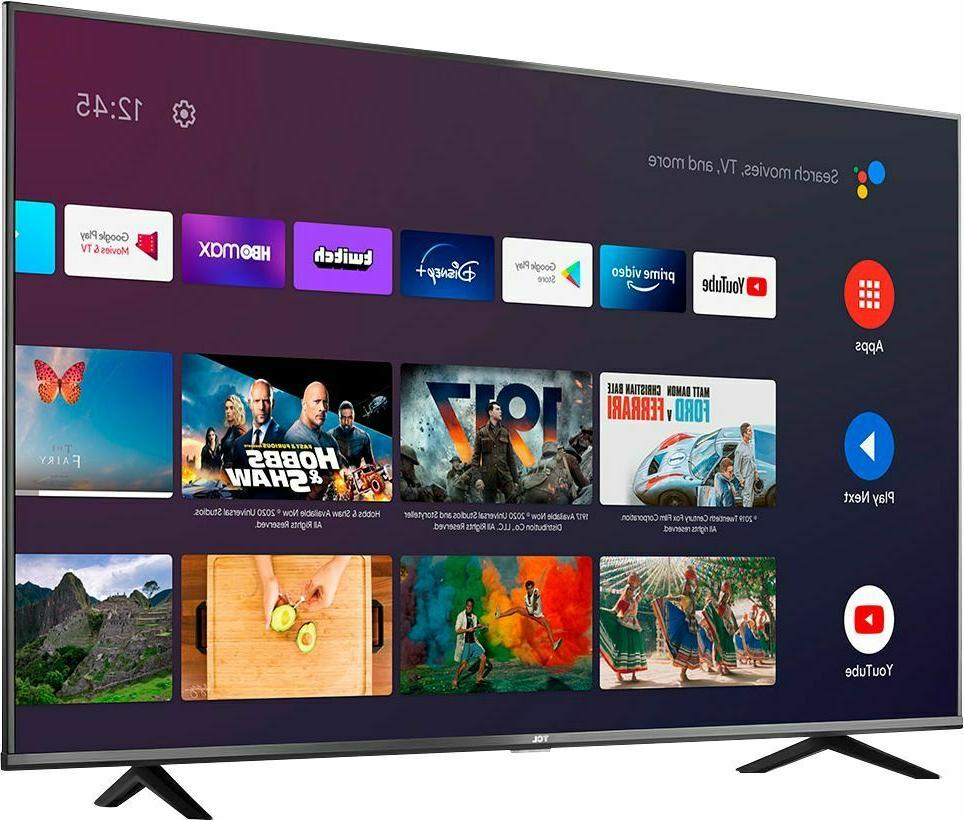 TCL inch 4K LED Smart Android 2020 Black