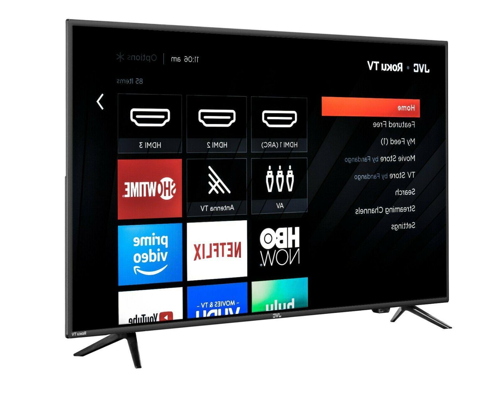 JVC Roku Smart TV LED HDR HD HDMI