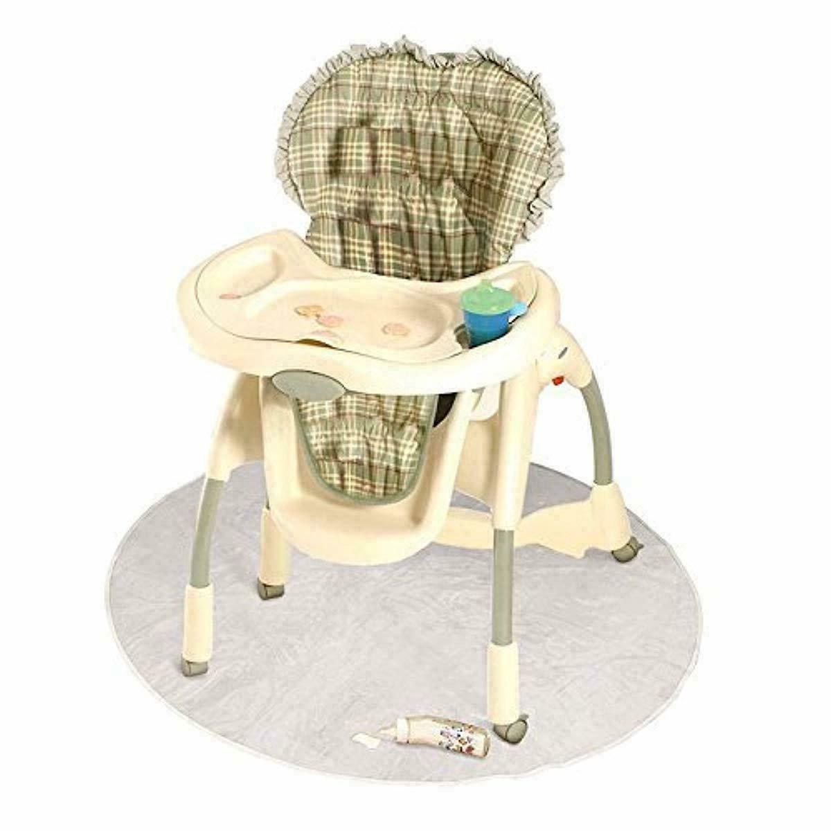 50 Inch High Chair Infant Toddler Floor Protector Floor Mat Clear