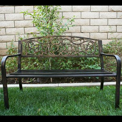 50 inch outdoor patio bench furniture seat