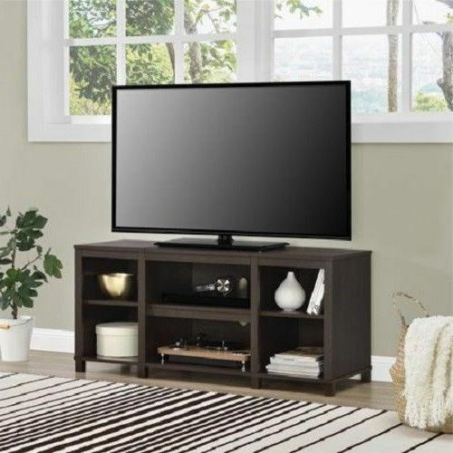 50 Inch TV STAND ENTERTAINMENT CENTER Media Storage Brown Co