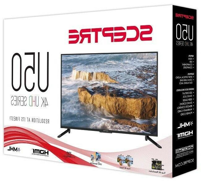 50 Ultra Definition TV HiDef Sceptre