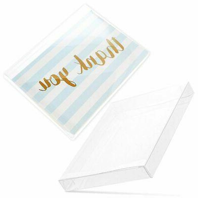 50 pack clear greeting card and photo