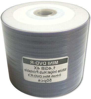 50 pak 3 inch white inkjet hub