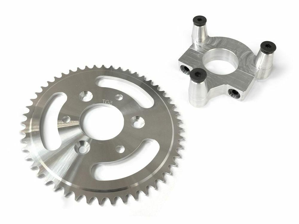 50 Tooth CNC Sprocket & 1.5 Inch Adapter Assembly 80CC Gas M