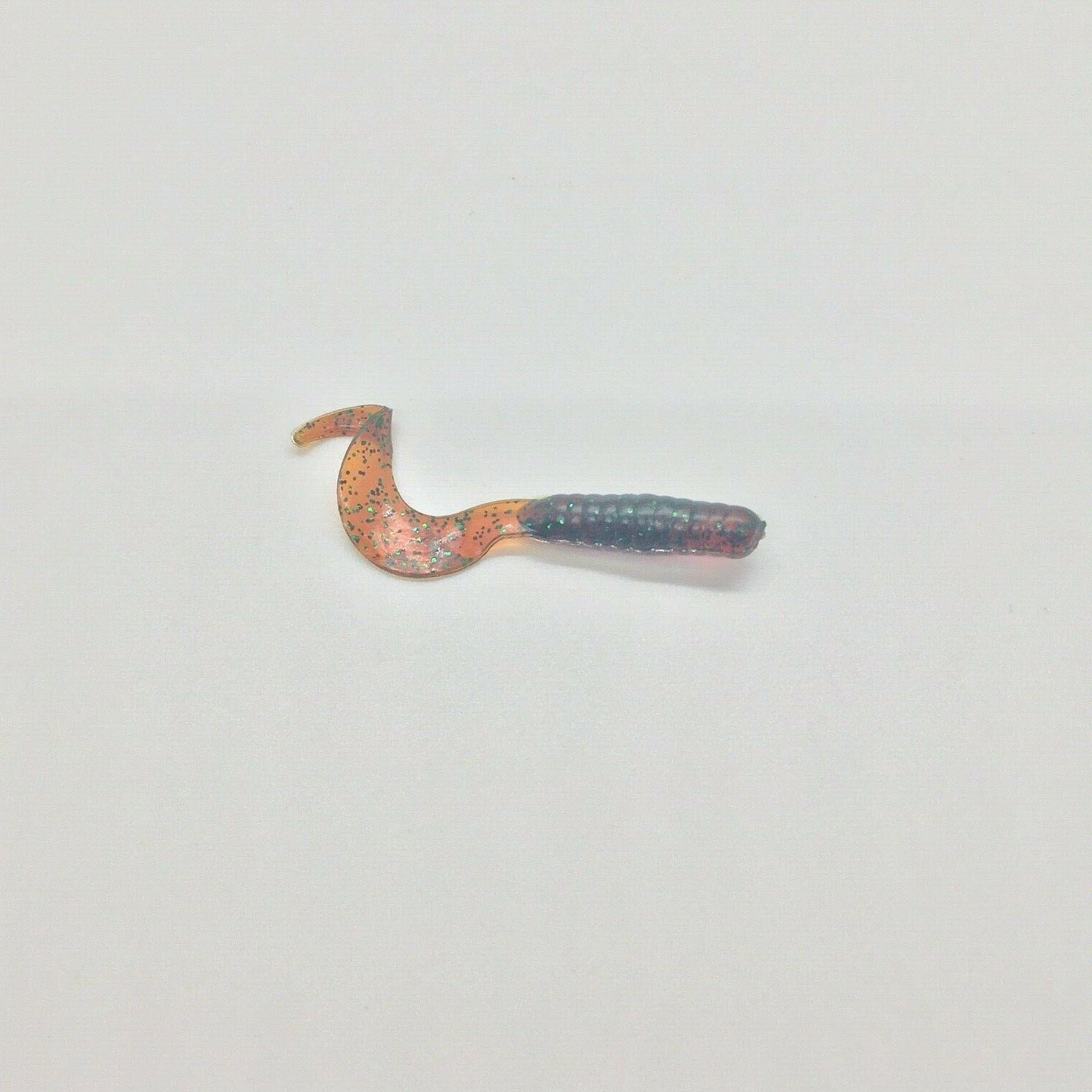 50ct Curly fishing worm plastics- 2 inch