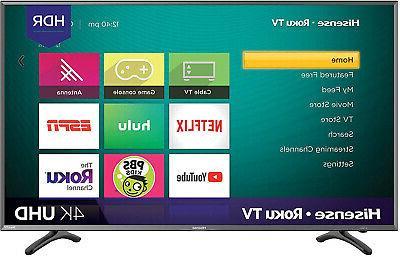 Hisense 50R7E 50-inch 4K Ultra HD Roku Smart LED TV HDR