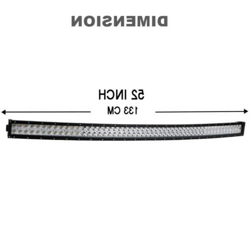 52Inch Curved LED Light Bar+22 OFFROAD 4WD VS 54/42/20""