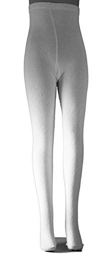 6-8 YEARS OLD - BOY, GIRL - WHITE COTTON TIGHTS FOR SCHOOL A