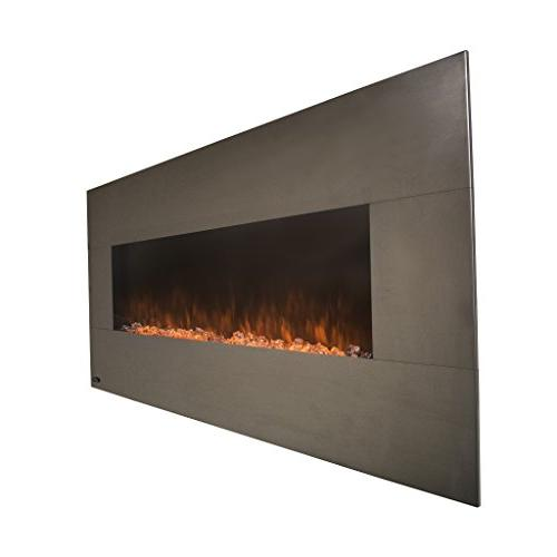 Touchstone - Electric - 50 Inch Wide – On 5 Realistic Flame - 1500/750 Watt & Crystal Timer Remote