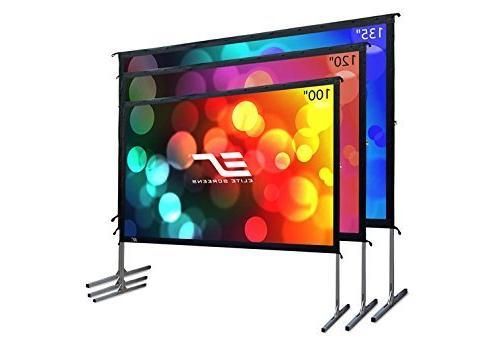 Elite Screens Yard Master 2, 100-inch Indoor Outdoor Portabl