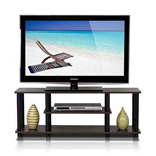 Furinno Tools 3D 3-Tier Entertainment TV Stands, Dark /