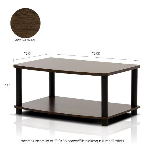 Furinno 13191DBR/BK Tools 2-Tier Elevated TV Stand,