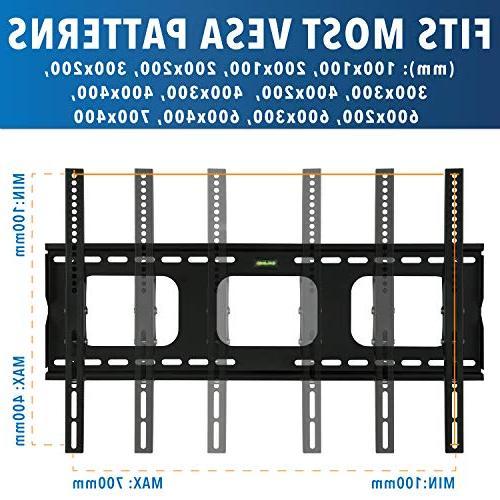 Mount-It! Mount Bracket For Sony LG TCL Element 42 47 50 60 65 TVs VESA 600x400, 750x450 Tilt 175 Lbs
