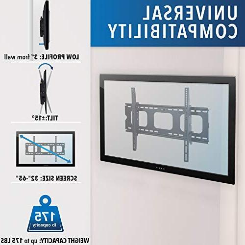 Mount-It! Mount Samsung Sony Vizio TCL Element 42 47 50 VESA 400x400 750x450 Compatible Premium Tilt 175 Lbs Capacity