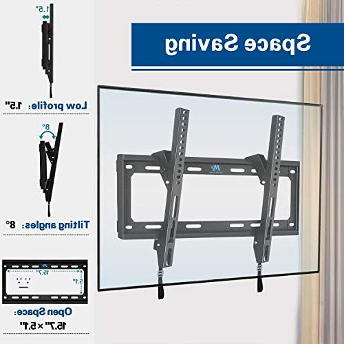 Mounting Dream Mounts Bracket for 26-55 TVs up 88 Loading Capacity, TV Strap Easily Lock