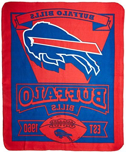 "The 1NFL/03102/0003/AMZ NFL Buffalo Printed Fleece 50"" x Buffalo 50"" x"