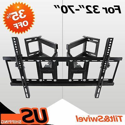 Tilt Swivel TV Corner Wall Mount Bracket LED LCD Monitor 42