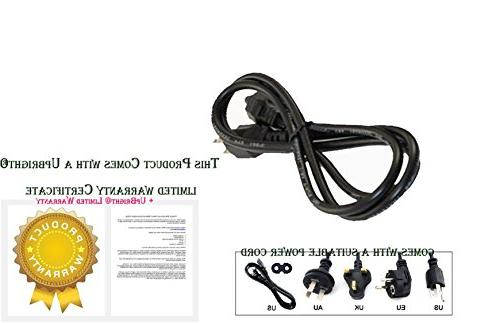 """UpBright Power Cable For 1908 HDLCD1955W SLED2453W CEL758B SLEDVD226D 19"""" 22"""" 26"""" LCD HD"""