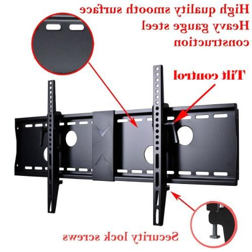 """VideoSecu TV Wall Mount for 40"""" 46"""" 52"""" 55"""" 60"""" 63"""" 65"""" LCD LED 700x400mm 7 HDMI Cable Bubble Level MN4"""