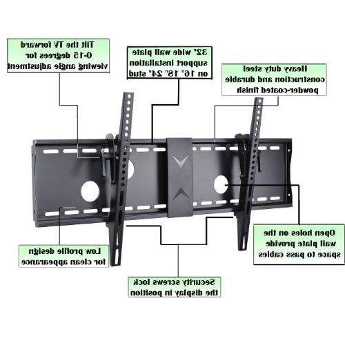 """VideoSecu Tilt Flat Screen TV for 42"""" 46"""" 47"""" 52"""" 55"""" 58"""" 63"""" LCD LED 700x400mm HDMI and"""