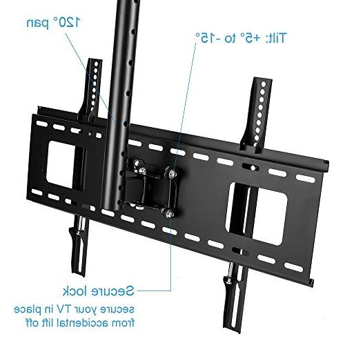 Vemount Ceiling Mount Bracket 40 42 43 50 60 Plasma LCD LED Monitor Panel Displays Smart TV,VESA 200x200 400x400 600x400