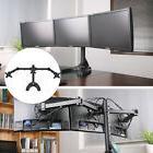 Adjustable Computer Monitor Desk Mount for 3 Horizontal LCD