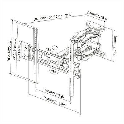 Articulating TV Monitor Wall Mount Motion Swivel...
