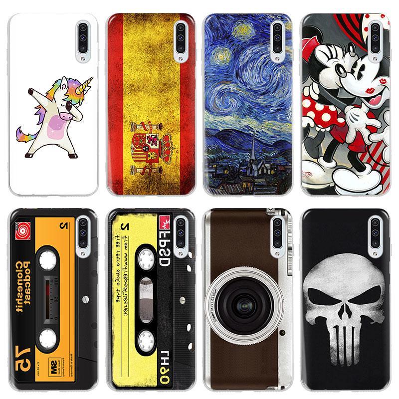 Cartoon Cases Samsung Galaxy A30 A20 A40 A10 A70 A 30 <font><b>40</b></font> 70 Pattern Phone Case Slim PC Back Cover
