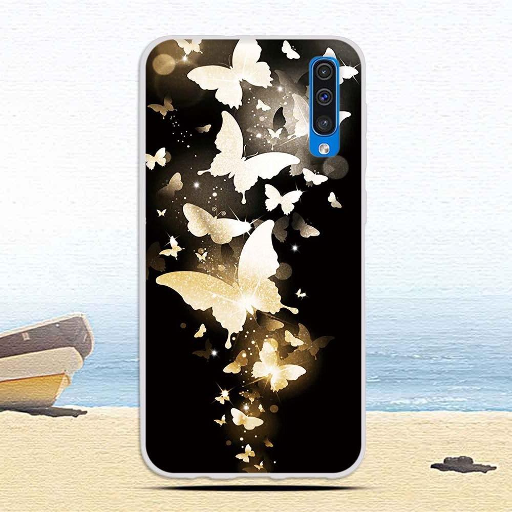 Case For <font><b>Samsung</b></font> Galaxy A50 Cat Protective Soft TPU Cases for Galaxy A50 Coque