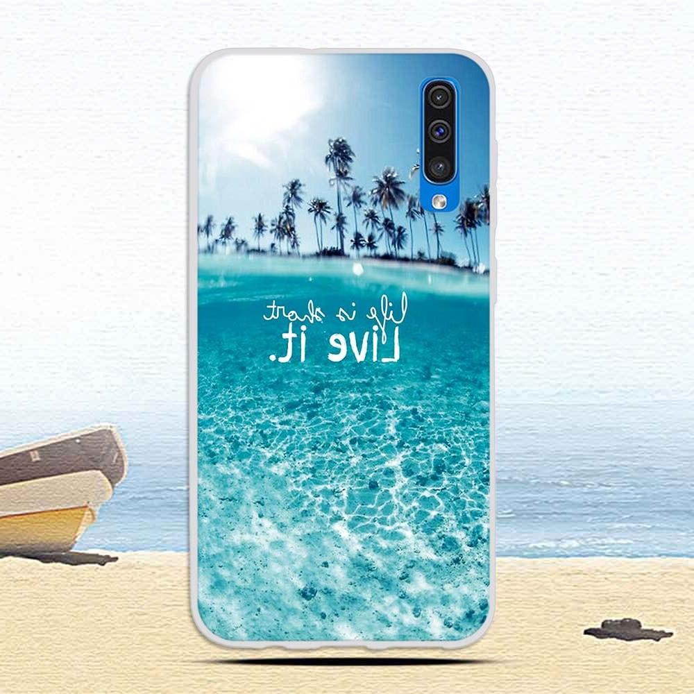 Case <font><b>Samsung</b></font> Galaxy A50 Colorful Cat Printing Soft TPU Silicone for Galaxy A50 Coque