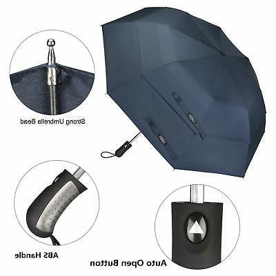 Compact Golf Umbrella Large Umbrella Windproof Canopy Auto