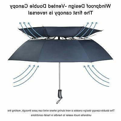 Compact Golf Umbrella 50-inch Large Umbrella Canopy Vented