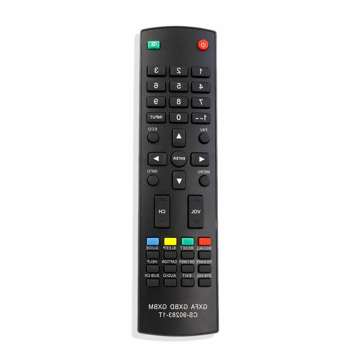 CS-90283-1T GXBD GXBM GXFA Replace Remote for Sanyo TV DP322