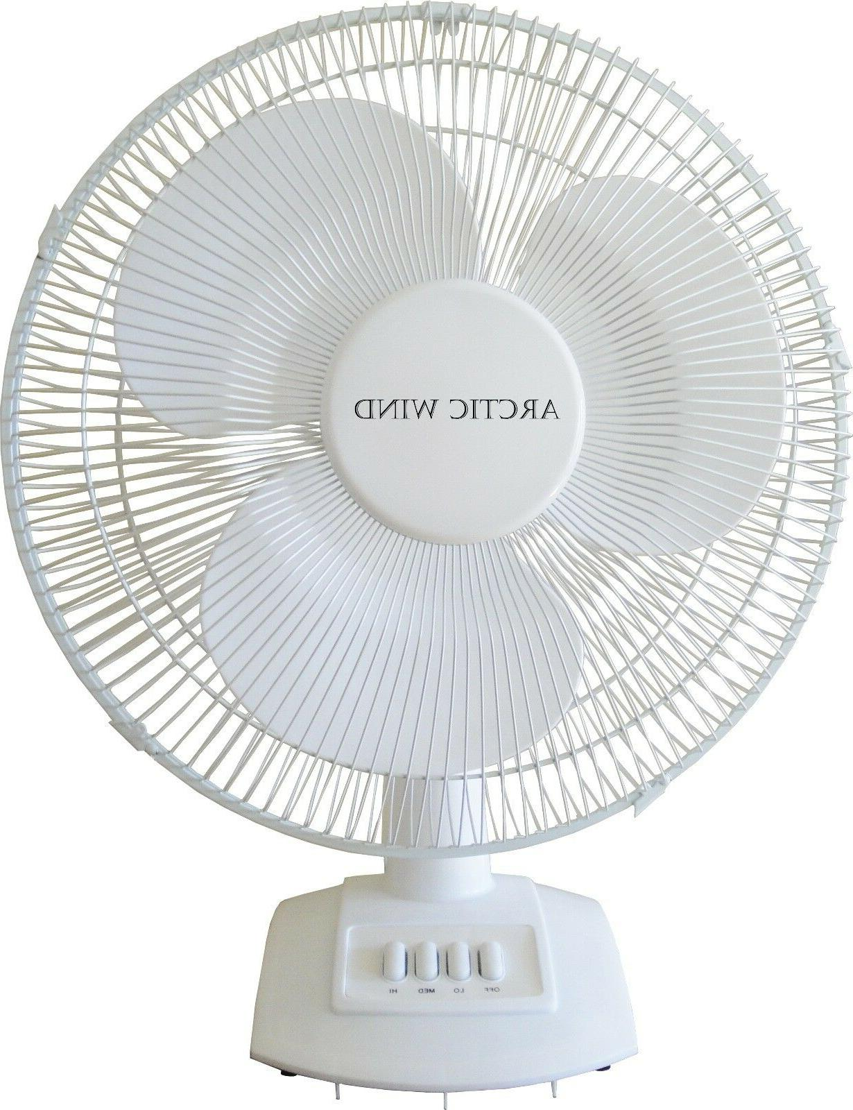 NEW WindStream 16 Inch Desk Fan, Powerful 50 watt motor, Whi
