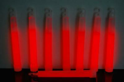 DirectGlow 50 Red Jumbo 6 Inch Sticks 12+ Hour Glow