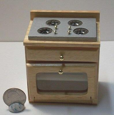 dollhouse miniature kitchen stove oak 1 12