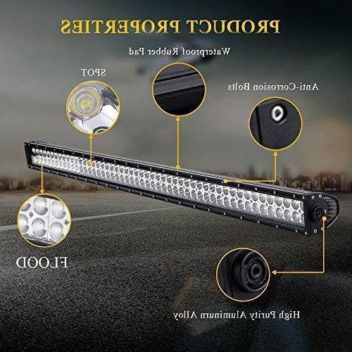 "QUAKEWORLD 52"" 300w LED Bar Spot Work Light Driving Lights Fog Ford Boat Jeep GMC SUV UTE Boat"
