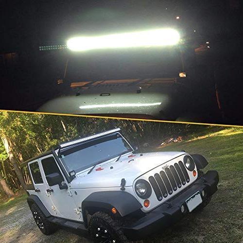 QUAKEWORLD LED Light Bar Spot Combo Driving Fog Offroad Lighting for Ford Toyota Tundra Boat GMC SUV UTE Boat