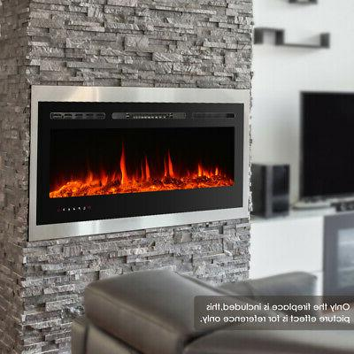 in wall touch screen electric fireplace 50