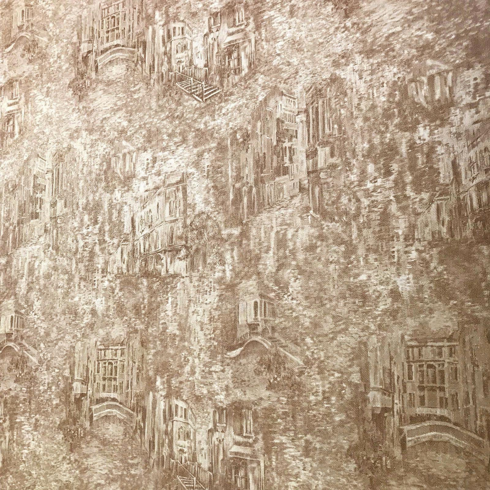 Faux Rug Old Wallpaper gold roll Town