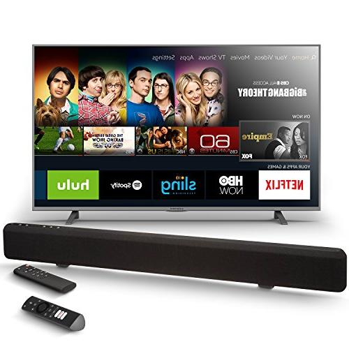 Element 50-Inch Fire TV Edition TV with AmazonBasics Sound Bar