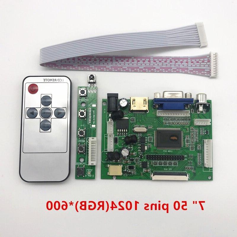 skylarpu TTL Controller Board HDMI 2AV <font><b>50</b></font> PIN for AT070TN90 Automatically Board