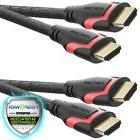 2pc FosPower High Speed HDMI Cable1FT for Ethernet 3D Audi