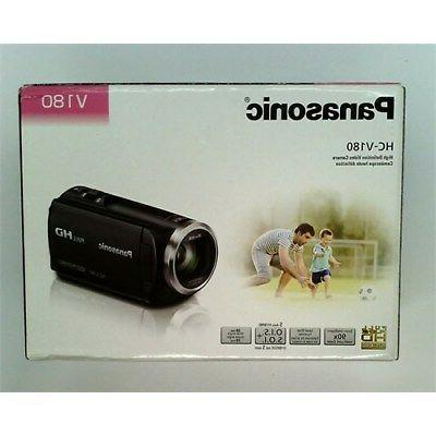 Panasonic Full HD Camcorder HC-V180K, 50X Optical Zoom, 1/5.