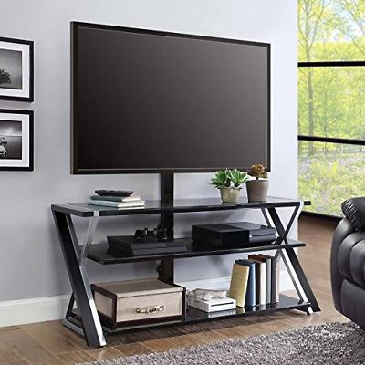 """Whalen Furniture 3-in-1 Tv Stand for Tvs up to 70""""  Black/Si"""