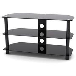 ProHT Glass and Metal TV Stand, Supports Flat Panel TVs up t