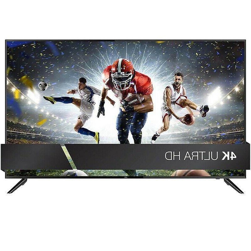 "HDTV 50 Inch 4K Ultra HD TV 50"" Television JVC LED Built in"