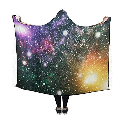 YUMOING Space High Definition Star Field Blanket Inch Comfotable Hooded Throw